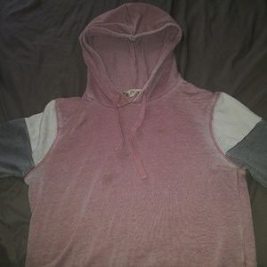 Pink grey and white shirt/hoodie